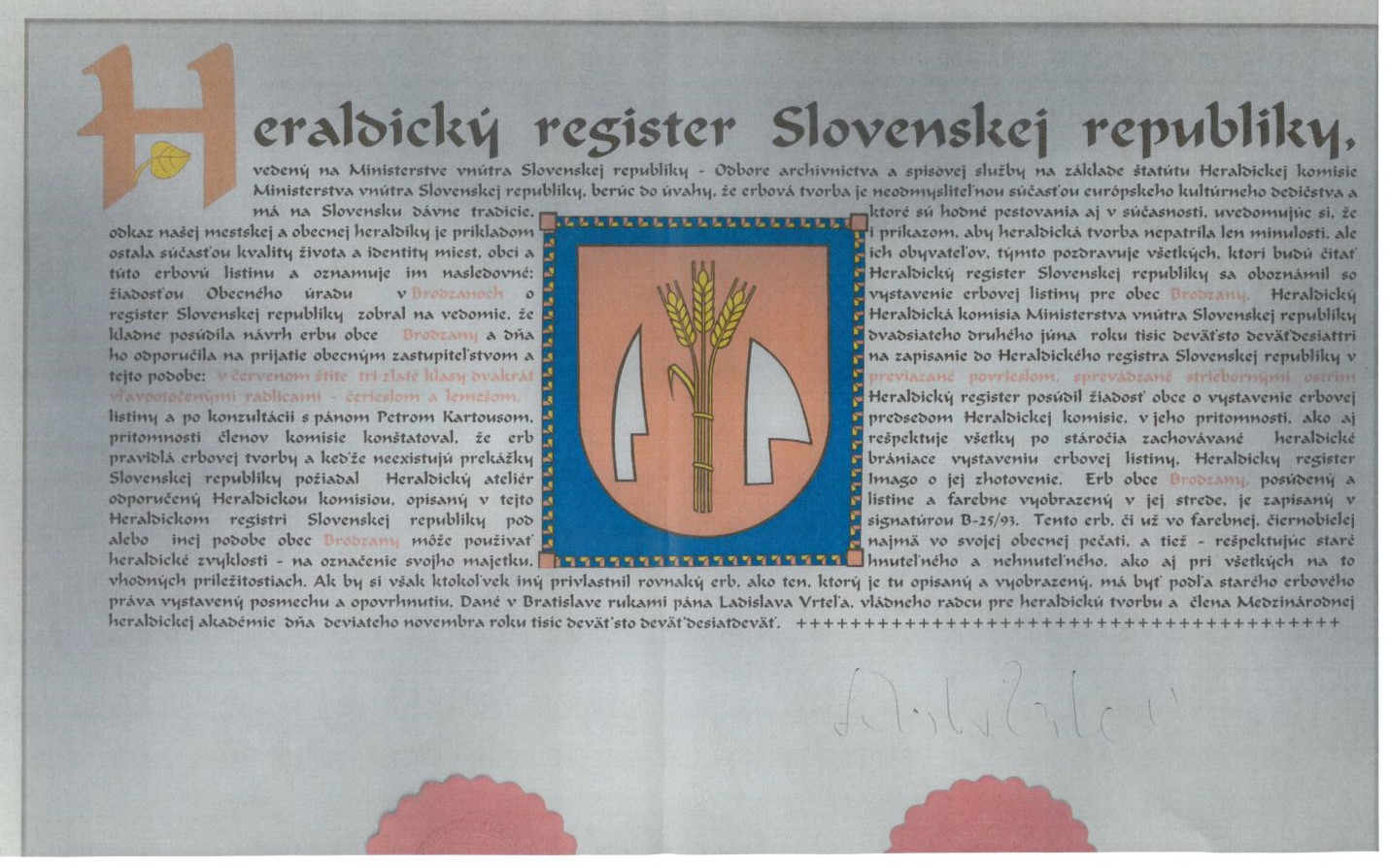 Heraldický  register-rr